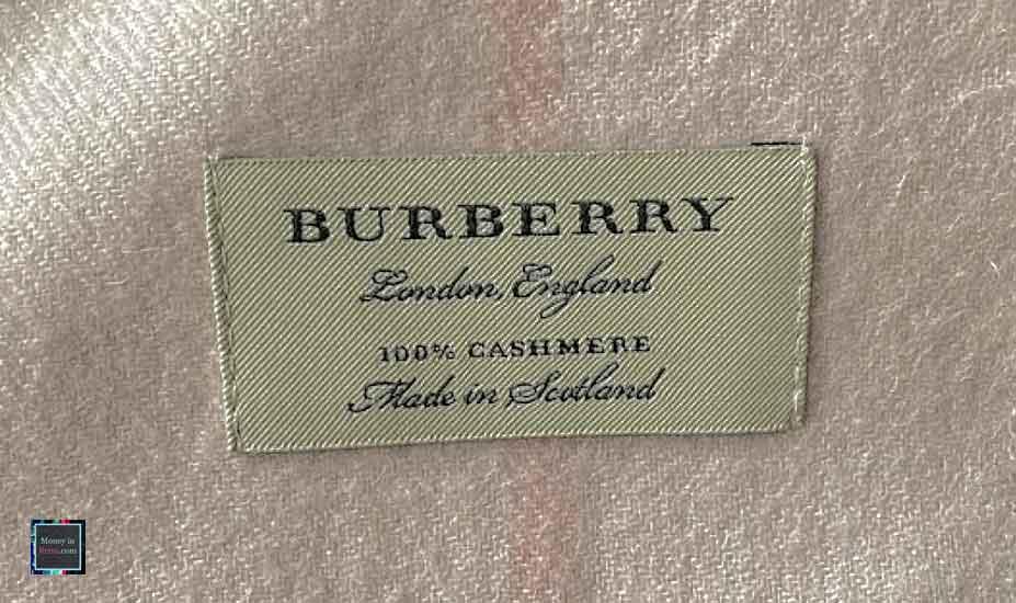 Burberry label